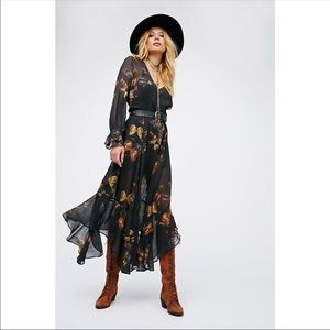 NWT Free People Butterfly Skies Maxi Dress!